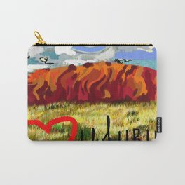 I love Uluru Carry-All Pouch