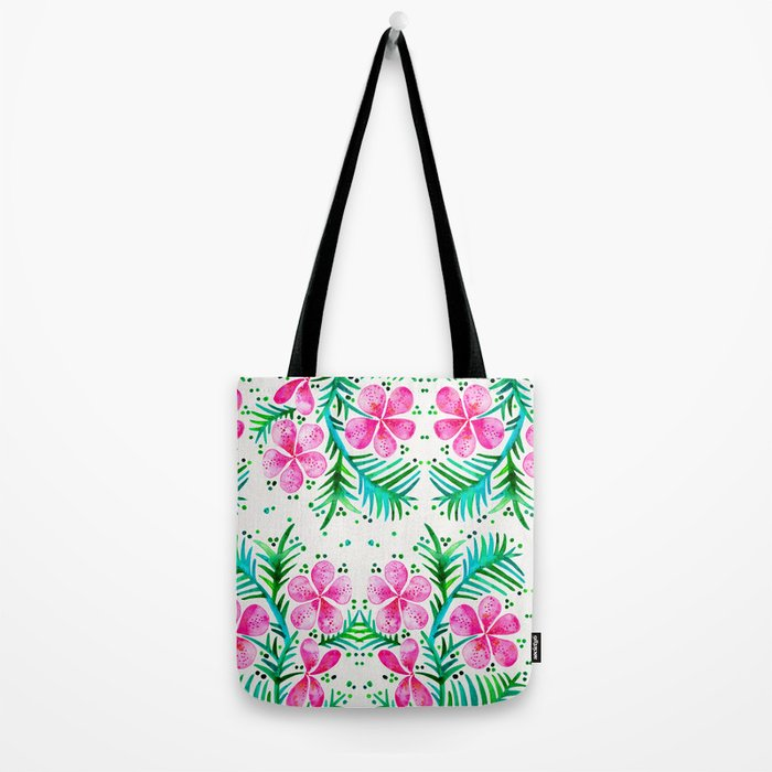 Orchid Bunch – Fuchsia & Green Palette Tote Bag