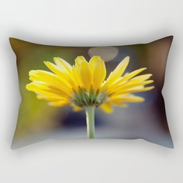 Yellow Gerber Daisy Rectangular Pillow