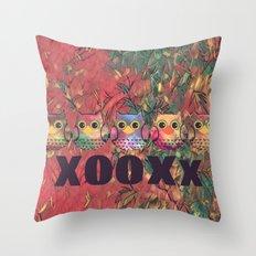 owl-239 Throw Pillow