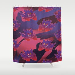 Mega Gengar Shower Curtain