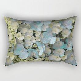 White Spring Hydrangeas Macro Flower Photography, Shabby Chic Spring Flower Decor, Bedroom Decor, Gi Rectangular Pillow