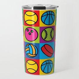 Sport Ball Pop Art Travel Mug