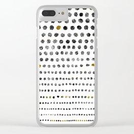 Black Dots II Clear iPhone Case