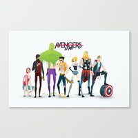 band Canvas Prints featuring Band by Andres Moncayo
