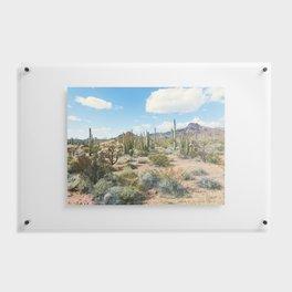 Desert Plant Growth Floating Acrylic Print