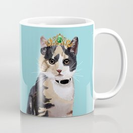 Elegant Cat with Crown Coffee Mug