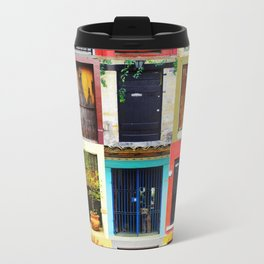 Doors of Mexico Metal Travel Mug