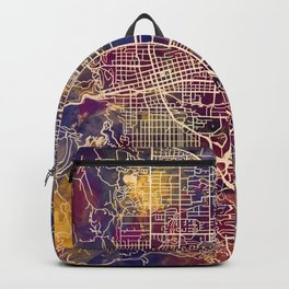 Boulder Colorado City Map Backpack