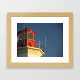 Lighthouse against a Blue Sky Framed Art Print