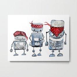 Robot gang Metal Print