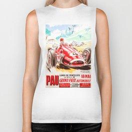 Grand Prix Pau, vintage poster, car t-shirt, car poster Biker Tank