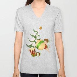 Fairy Merry Christmas Unisex V-Neck