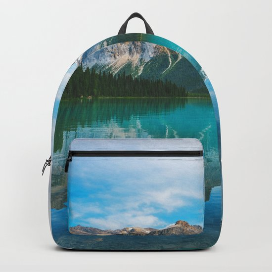 The Mountains and Blue Water Backpack