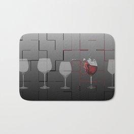 Breaking Wine Bath Mat