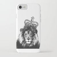 lion king iPhone & iPod Cases featuring Lion King by MaNia Creations