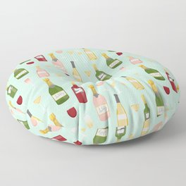 Rose drinks champagne wine bar art food fight apparel and gifts mint Floor Pillow