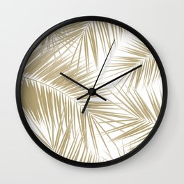 Palm Leaves - Gold Cali Vibes #6 #tropical #decor #art #society6 Wall Clock