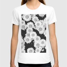 The Daisy Garden (Black and White) T-shirt
