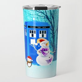 Tardis of Christmas Travel Mug