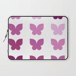 Butterflies in Purple Ombre Laptop Sleeve