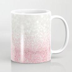 Pink Ombre Glitter Mug