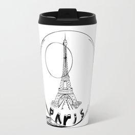 paris in a glass ball . Black-and-white . Art Travel Mug