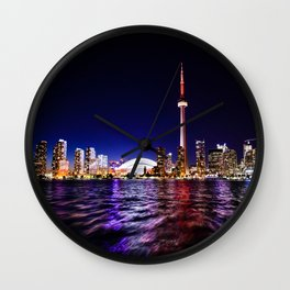 toronto city cn tower skydome Wall Clock