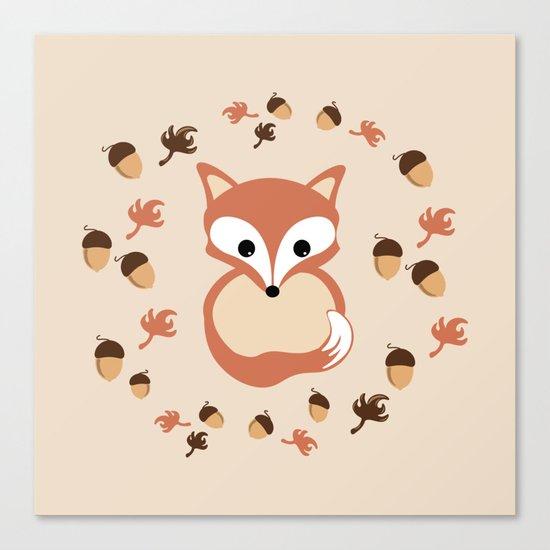 Fox in autumn Canvas Print