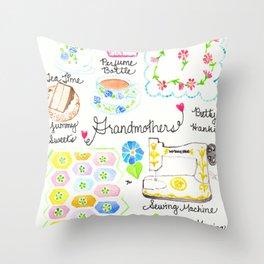 Grandmothers Throw Pillow