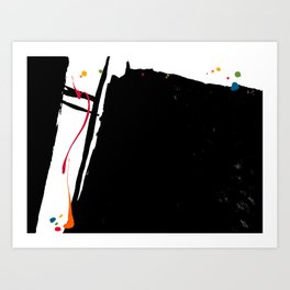 Black Splash Art Print
