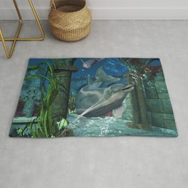 Wonderful dolphin Rug