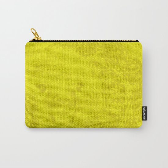 Ghostly buttercup yellow alpaca and mandala Carry-All Pouch