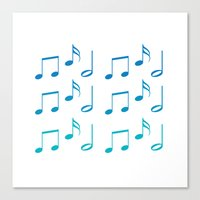 music notes Canvas Prints featuring Music Notes by magnez2