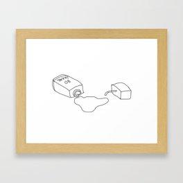 LEAKING AGAIN Framed Art Print