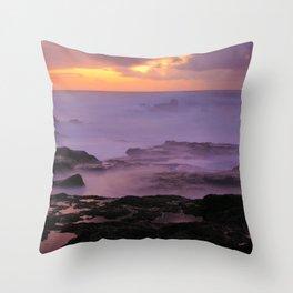 Seascape at sunset Throw Pillow
