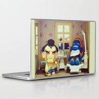 dentist Laptop & iPad Skins featuring Nightmare at the Dentist by Arwan Mauriattama