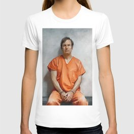 Jimmy McGill aka Saul Goodman In Prison Orange And Chains - Better Call Saul T-shirt