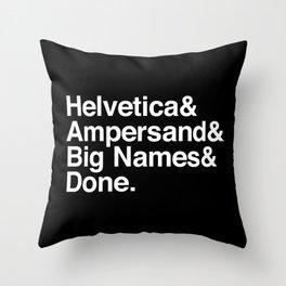 big names reverse Throw Pillow