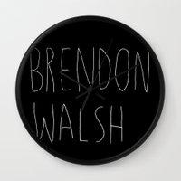 brendon walsh Wall Clock