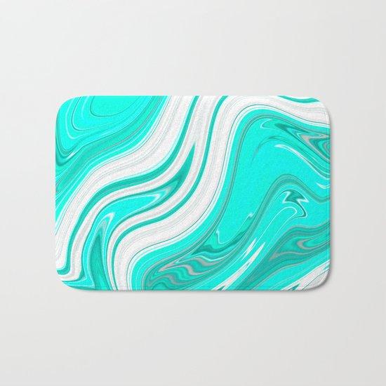 GreenishBlueishWhiteish Bath Mat