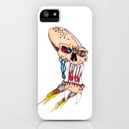 Jet-pack Skull iPhone Case