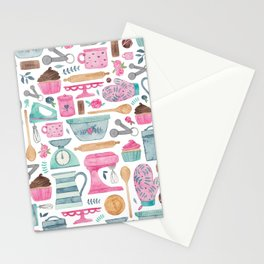 Baking Cakes Stationery Cards