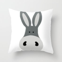 Charlie the Donkey Throw Pillow