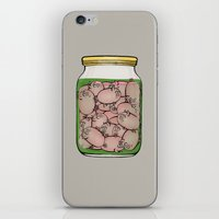 pigs iPhone & iPod Skins featuring Pickled Pigs by Megs stuff...