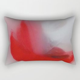 Fluffy Cardinal Red Moon Floats Cheerfully Into View Rectangular Pillow