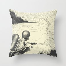 Sky Thrower Throw Pillow