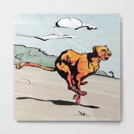 running cheetah Metal Print