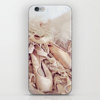 shabby chic iPhone & iPod Skins featuring Shabby Chic Ballet by Shabbyfufu