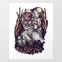 The Wolf Princess Art Print